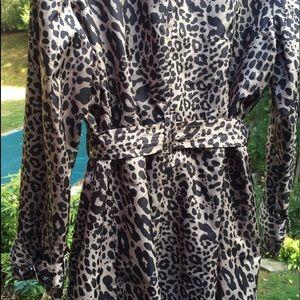 Rain Trench Coat In Animal Print